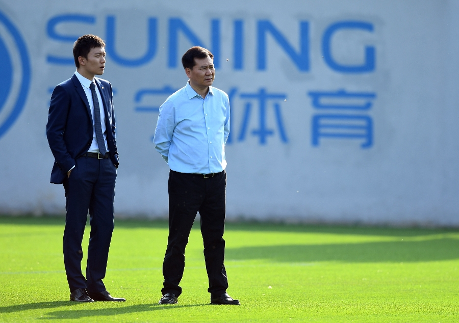 Jindong Zhang visits the Suning Training Centre