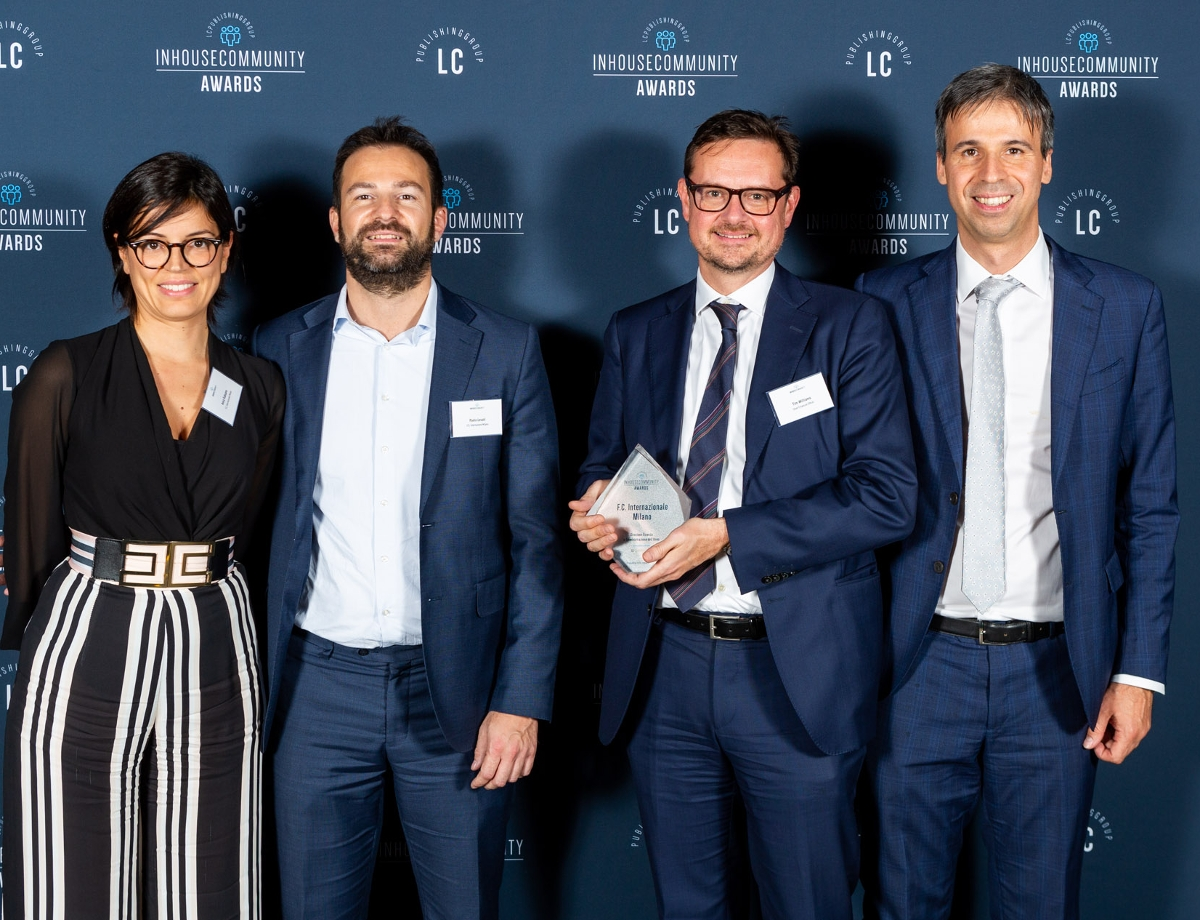 FC Internazionale Milano recognised at the Inhousecommunity Awards 2019
