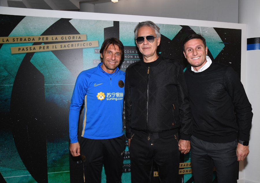 Andrea Bocelli visits the Suning Training Centre