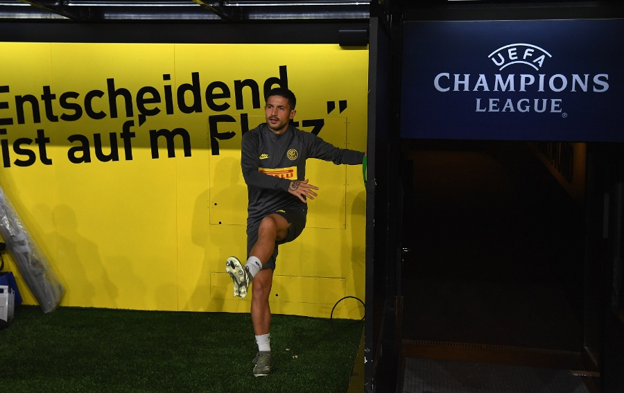 The Nerazzurri's final training session at the Westfalenstadion ahead of Borussia Dortmund vs. Inter