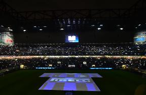 Inter-Roma, successful debut for the light show