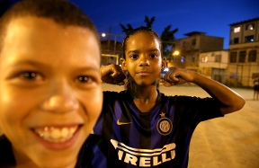 The faces and expressions of Inter Campus Brazil