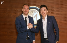 "Eriksen: ""Inter is a fantastic Club, what a welcome I've had from the fans!"""