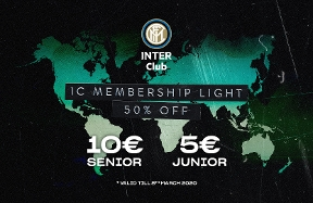 Inter Club reduced fees: 50% discount until 8 March