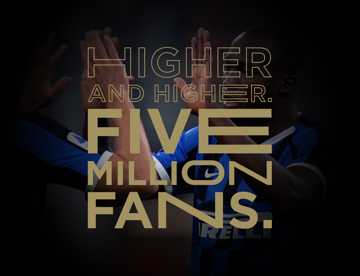 Higher and higher: we've reached 5 million followers on Instagram