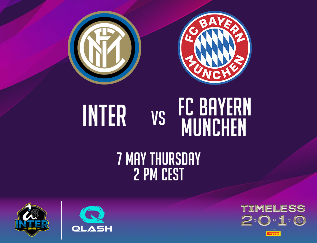 eSports, Inter and Bayern Munich will face each other on PES