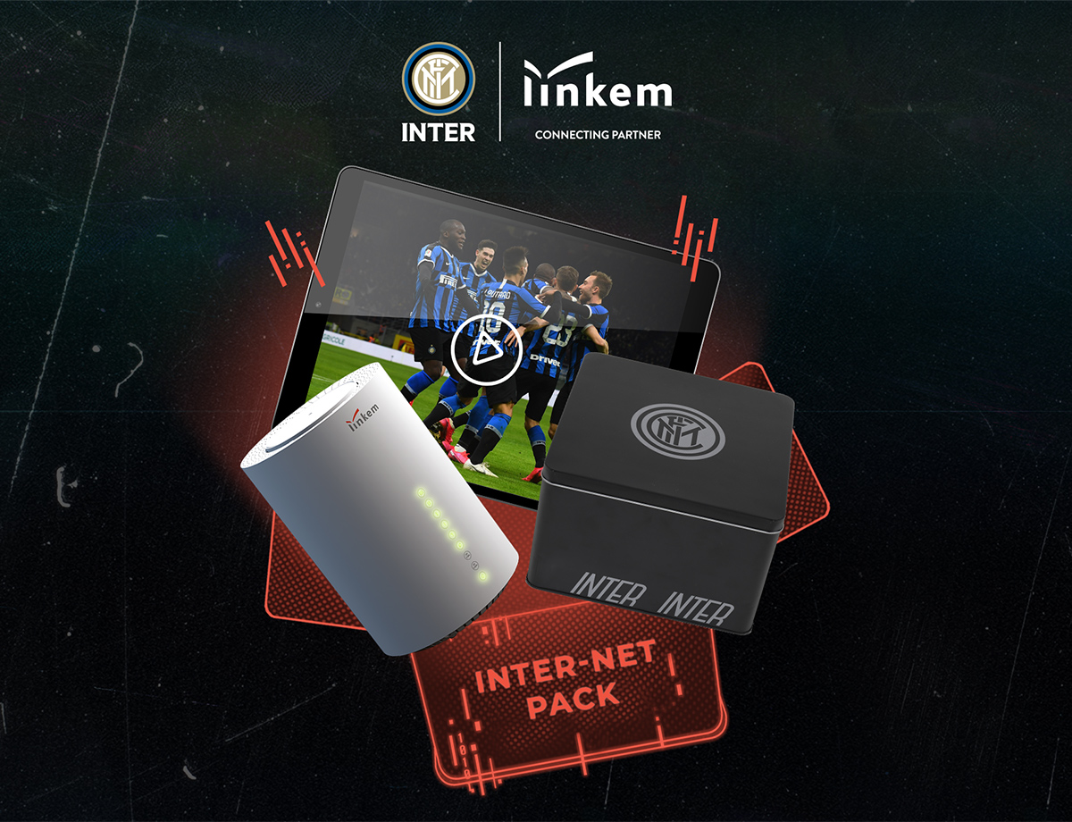 The Inter-Net Pack available from today, an innovative new project from Inter and Linkem for Nerazzurri fans