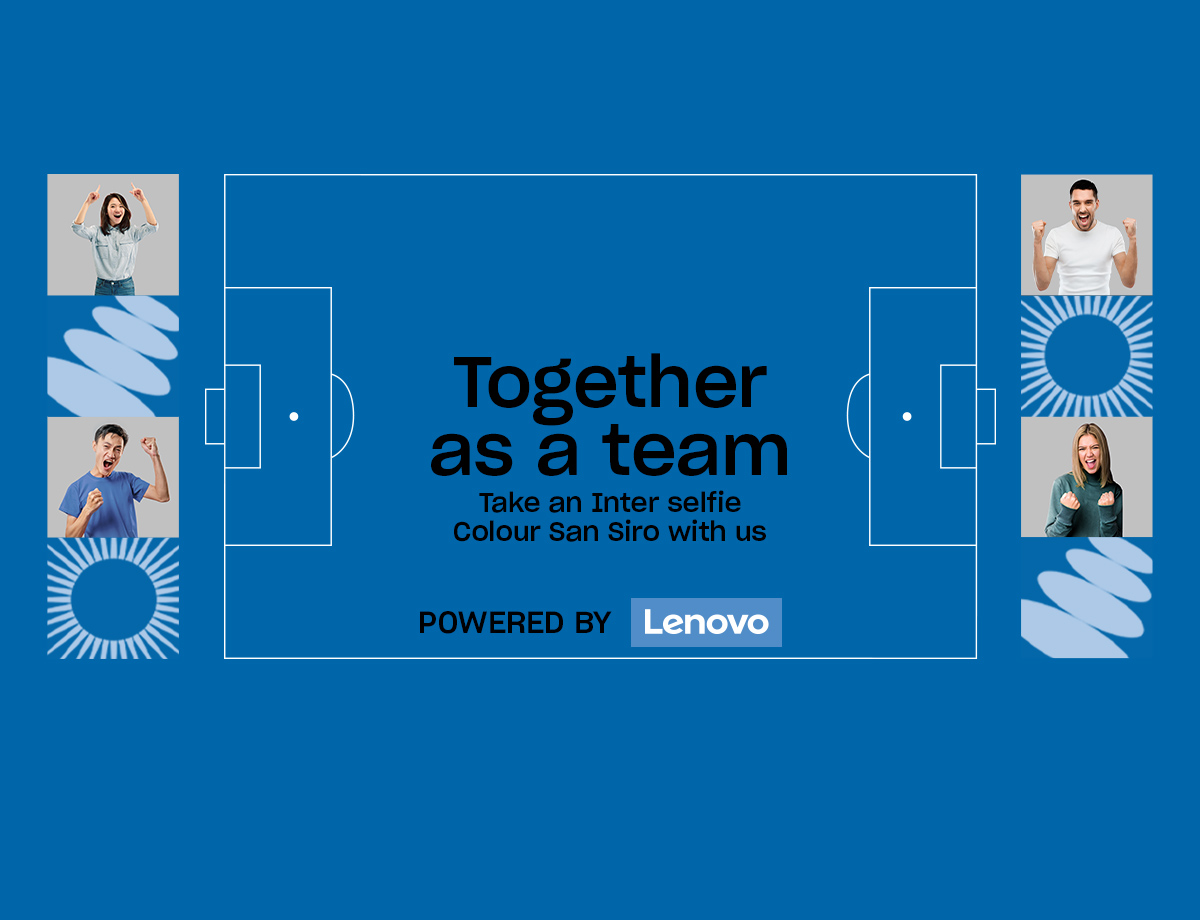 Inter vs. Sampdoria: Together as a team Social Wall launched