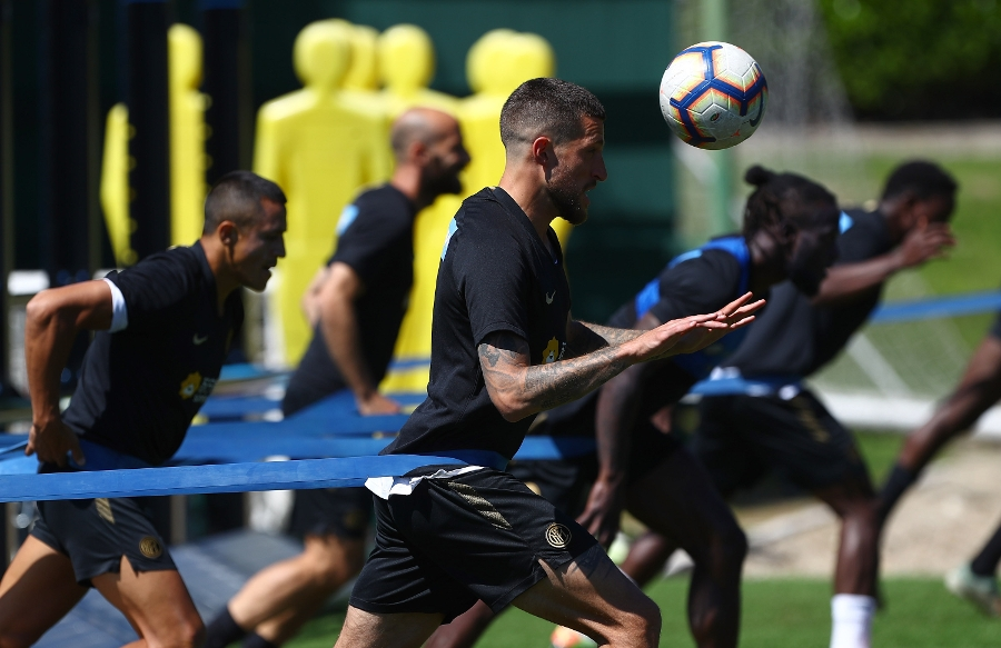 The team are straight back to work: photos of training