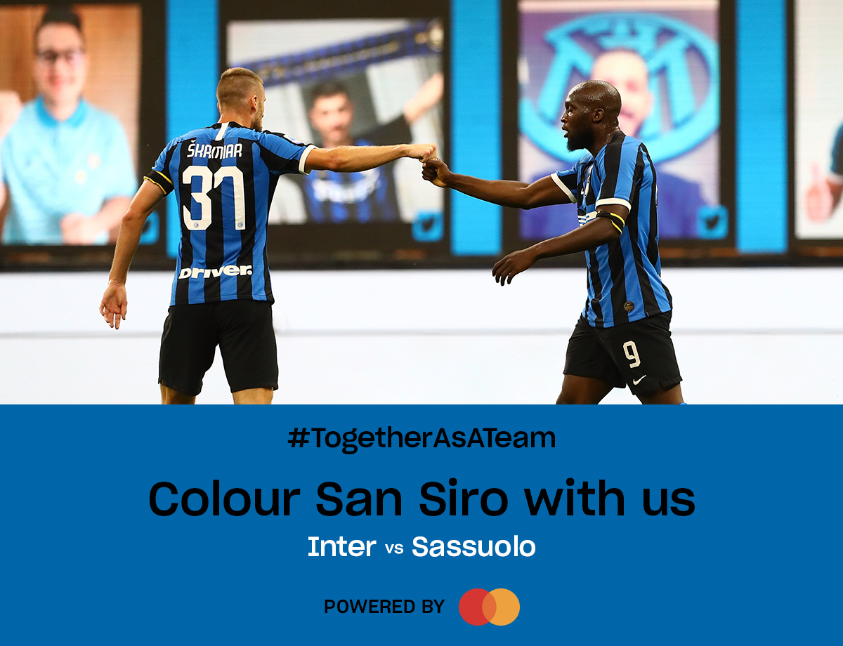Inter vs. Sassuolo, the return of our #TogetherAsATeam Social Wall