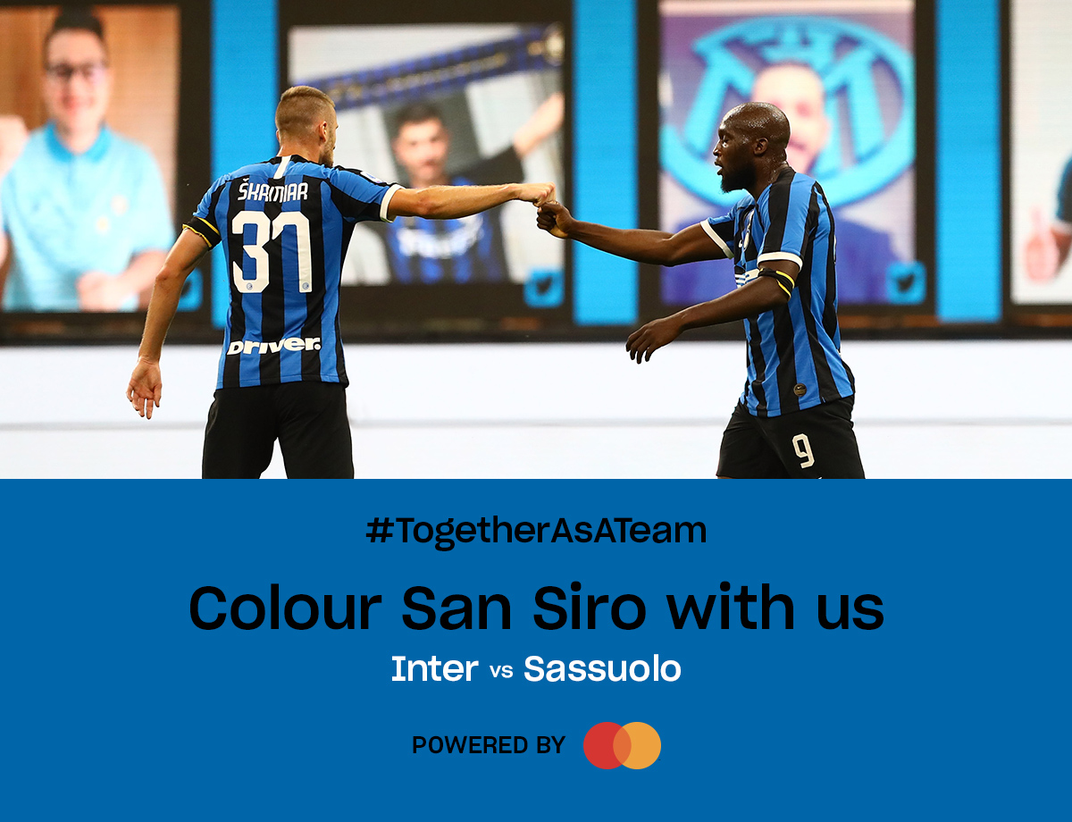 Inter-Sassuolo: vuelve el Social Wall Together as a Team