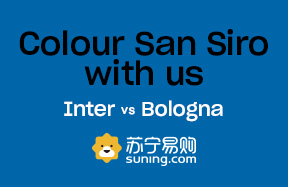 Inter-Bologna, torna il Social Wall Together as a team