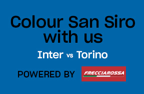Inter-Torino, torna il Social Wall Together as a team