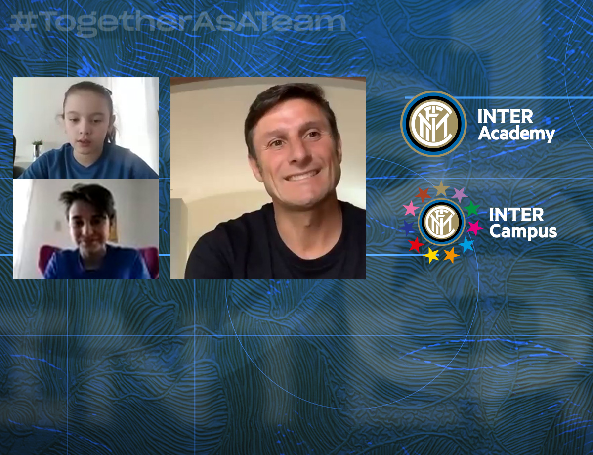 Inter Calling Kids: Inter Academy and Inter Campus youngsters meet Nerazzurri legends