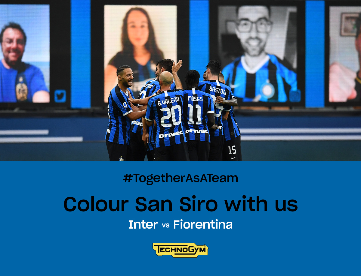 Inter-Fiorentina, torna il Social Wall Together as a team