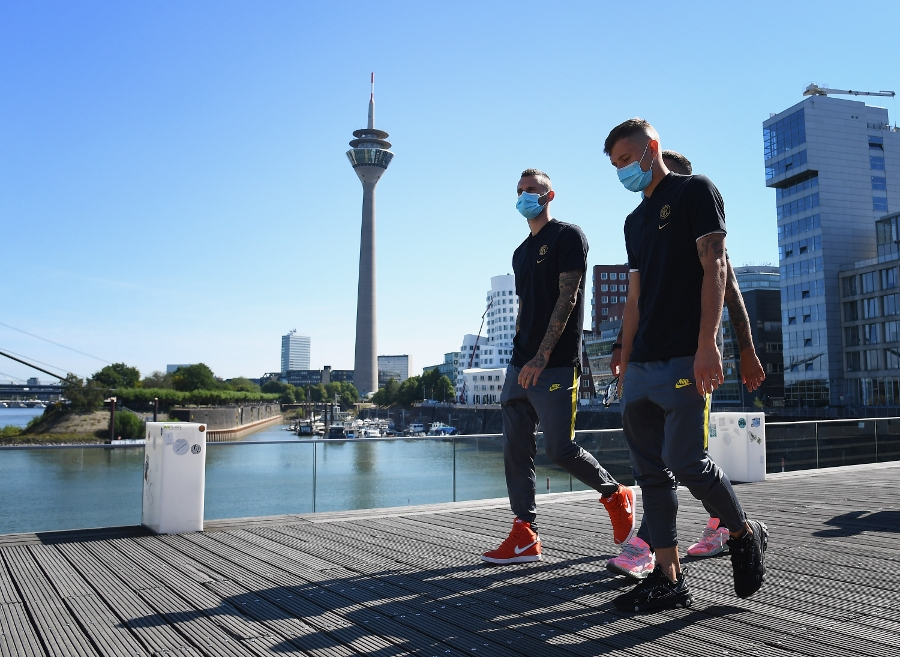 Building up to Inter vs. Getafe: photos and a video of the team in Düsseldorf