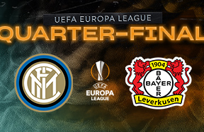 Inter to face Bayer Leverkusen in the Europa League quarter-finals