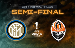 Inter to face Shakhtar Donetsk in the Europa League semi-finals