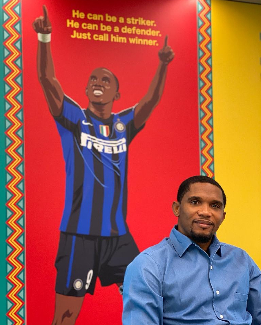 Samuel Eto'o visits Inter HQ