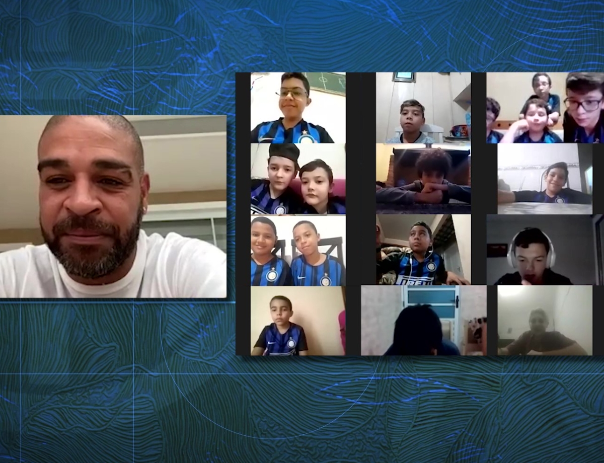 Inter Calling Kids | Adriano meets with youngsters from Inter Academy Brazil and Inter Campus