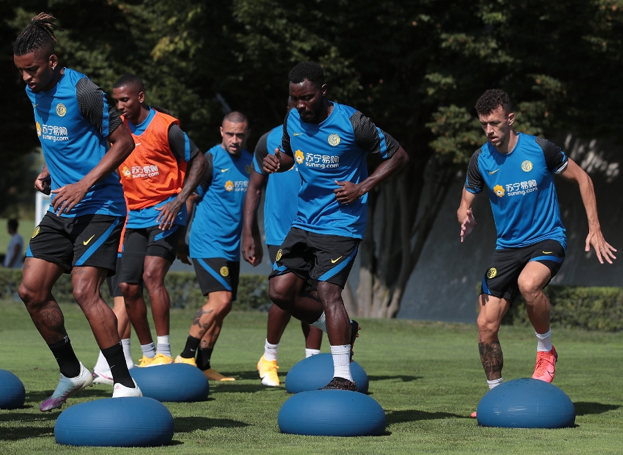 The Nerazzurri hard at work, today's photos