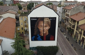 Jorit's new mural celebrates Milan and football with EA Sports FIFA 21