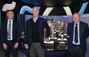 The President of CONI, Malagò, visits Inter's headquarters