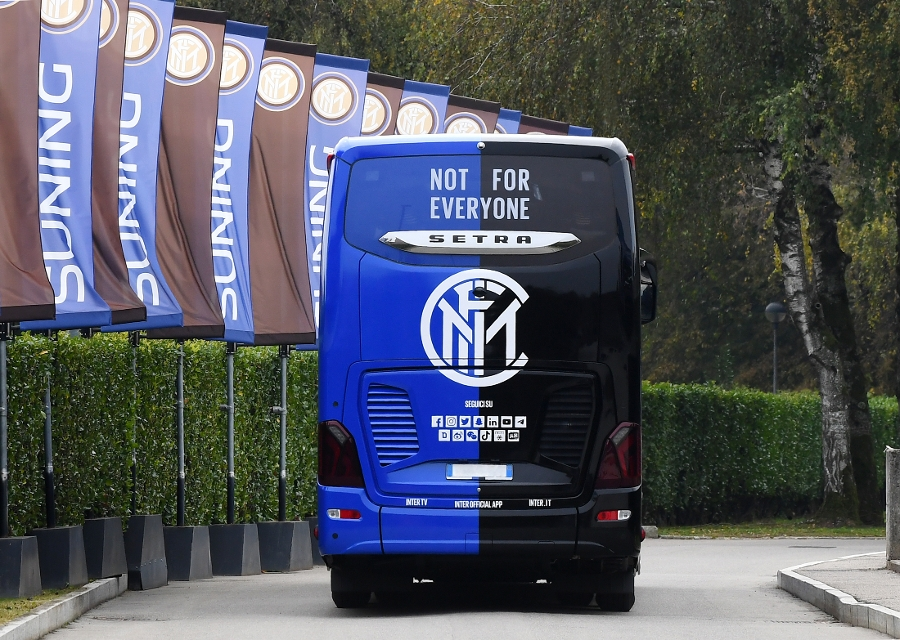 Inter unveil innovative new coach  featuring special bus cam for content creation