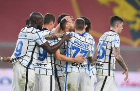 Inter beat Genoa thanks to goals from Lukaku and D'Ambrosio