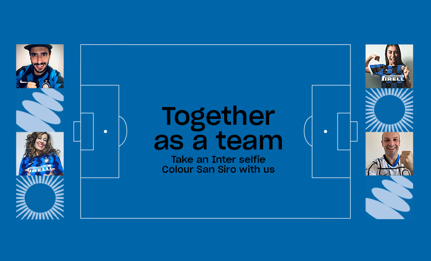 Inter vs. Parma, the return of the Social Wall Together as a team