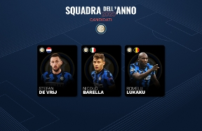 UEFA: Barella, de Vrij and Lukaku candidates for the Team of the Year 2020