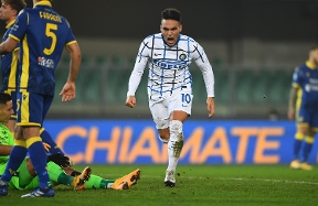 """Lautaro: """"It was a tough game, I'm happy with the goal and the win"""""""