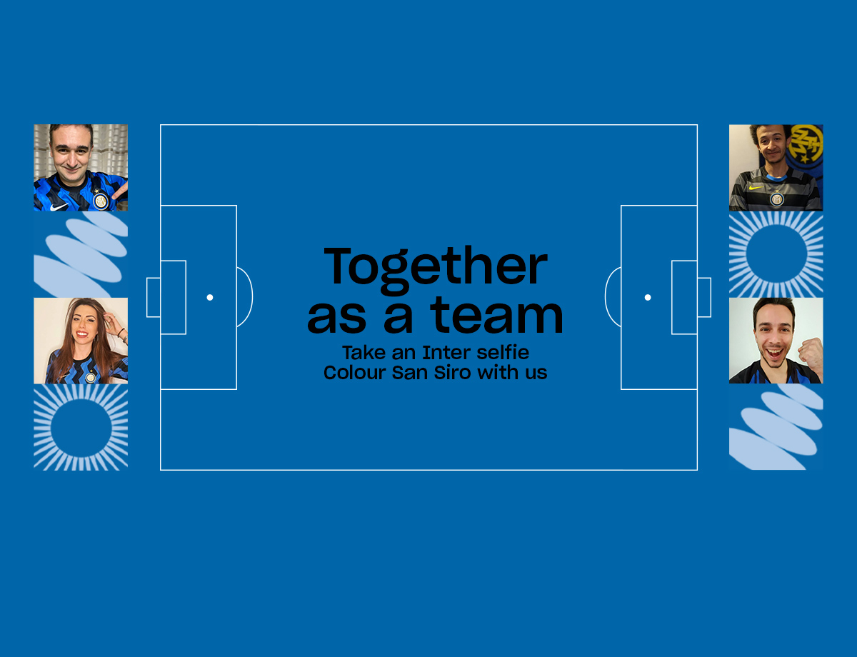 Inter-Juventus, torna il social wall Together as a team