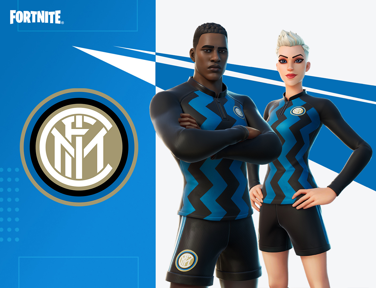 The official Inter Fortnite outfit available until 30 January