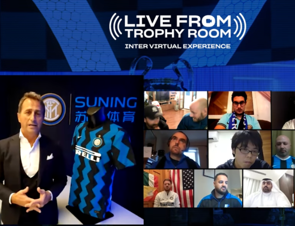 """Live from Trophy Room"": Riccardo Ferri chats with Inter Club members"