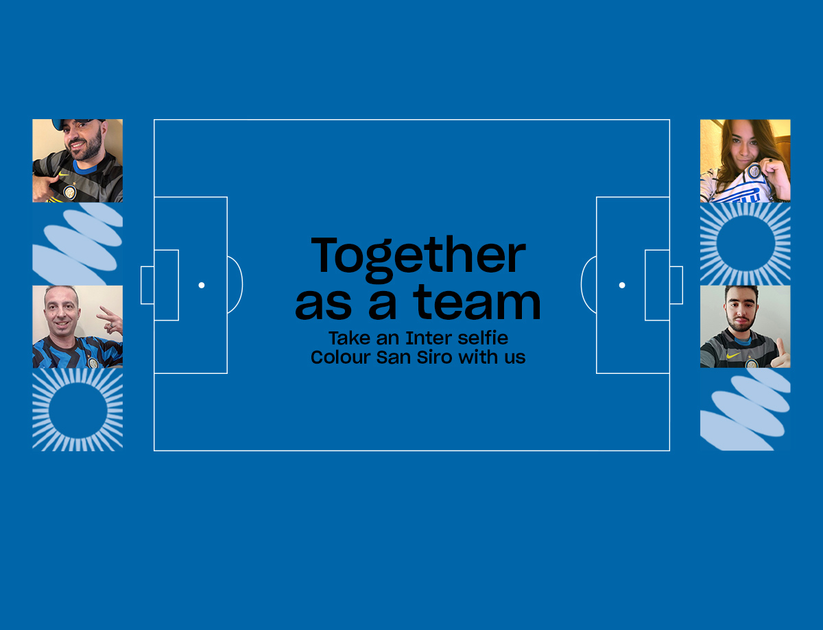 Together as a Team Social Wall for Inter vs. AC Milan