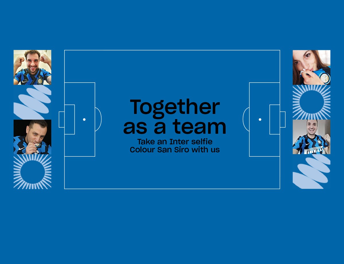 Inter vs. Benevento | Together As A Team Social Wall