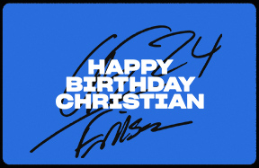 Happy birthday, Christian!
