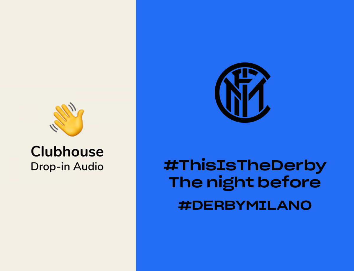 The eve of the #DerbyMilano on Clubhouse with a Nerazzurri room
