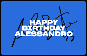 Happy Birthday Alessandro!