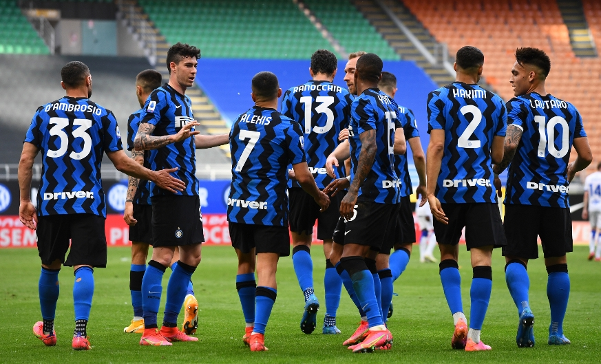 Festa Inter, Sampdoria battuta 5-1