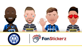 Personalise your messages with the official Inter stickers