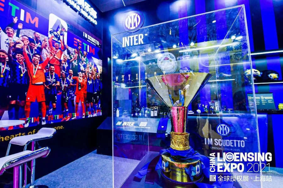 Inter celebrates the Scudetto and showcases its new brand at Licensing Expo in Shanghai