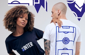 I M BACK | Black and blue t-shirts to celebrate the fans' return to San Siro