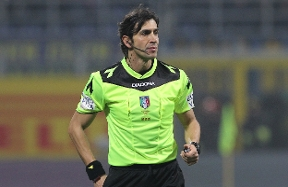 Calvarese to referee  Inter vs. Fiorentina