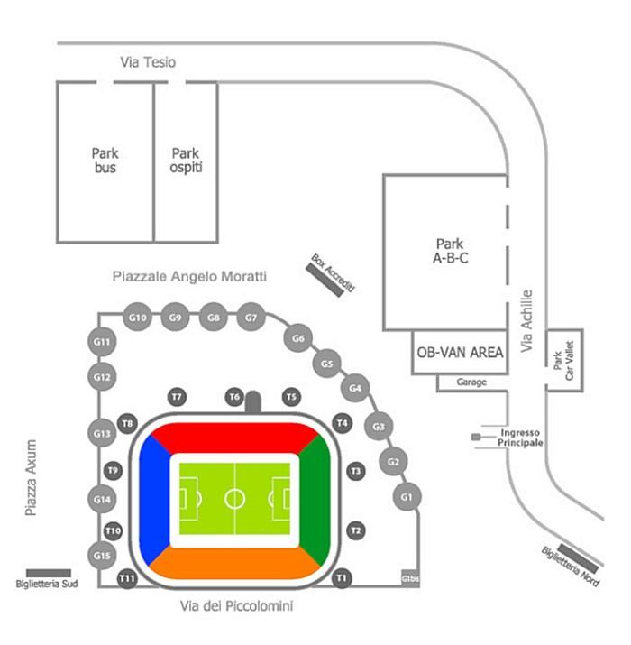 mappa stadio meazza turnstiles tornelli sansiro