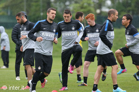 Last training session before Inter v Udinese