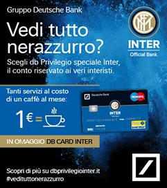 db Privilegio speciale Inter Il conto corrente in collaborazione con F.C. Internazionale che offre ai tifosi nerazzurri una vasta gamma di servizi a condizioni esclusive.