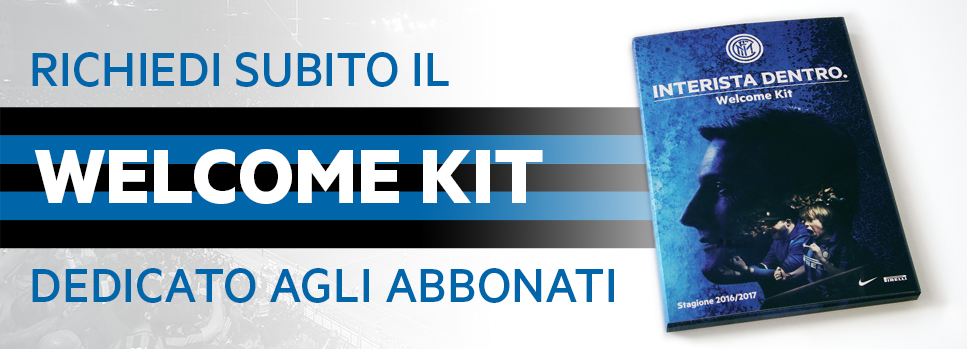 [welcome kit abbonati inter 2016.17]
